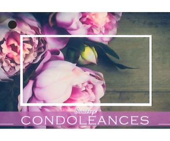Condoléances - Carte et Enveloppe