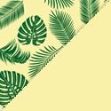 Polypro Palm beach Jaune pastel / Vert